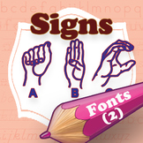 Sign Language family font (2 fonts)