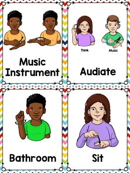 Sign Language for the Music Room