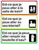 Sign Out French or English Poster - affiche en francais