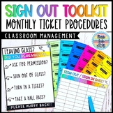 Student Sign Out Toolkit: Bathroom Passes Procedures for Secondary Classes
