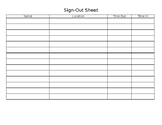 Sign-Out Sheet