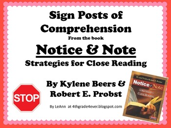 Sign Posts of Reading Comprehension