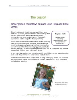 American Sign Language -Kindergarten Countdown-A Sign, Read and Play Collection