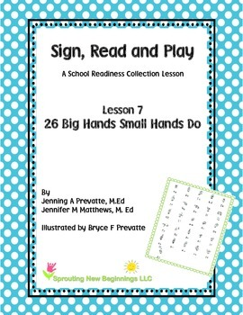 American Sign Language Lesson- 26 Big Hands Small Hands Can Do