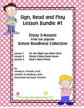 American Sign Language (ASL) The Sign, Read and Play Collection Bundle #1
