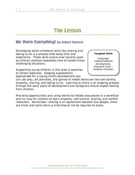 ASL Lesson -We Share Everything -Sign, Read and Play Collection