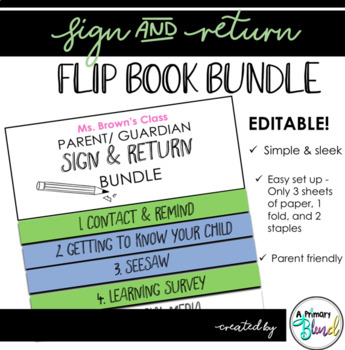 Sign & Return Flip-Book