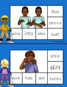 Sign, Spell, Clip American Sign Language Set 7