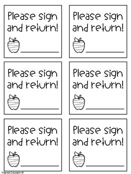 Sign and Return Labels