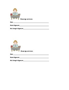 Sign and Return slip for graded papers.