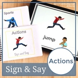 Sign and Say Actions Print or No Print Vocabulary Cards