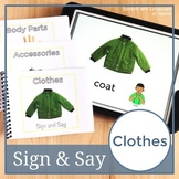 Clothes. Sign Language Printables. Speech Therapy Books (ASL) (Flash Cards)