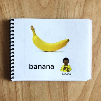 Sign and Say Foods Print or No Print Vocabulary Cards