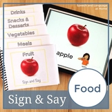 Sign Language Activity | Food | Speech Therapy Book | Print or No Print | ASL