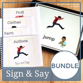 Sign and Say BUNDLE Print or No Print Vocabulary Cards #jan21SlpsGoDigital