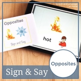 Opposites. Sign Language Printables. Speech Therapy Books (ASL) (Flash Cards)