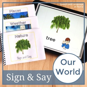 Sign and Say Our World Print or No Print Vocabulary Cards