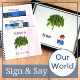 Our World. Sign Language Printables. Speech Therapy Books (ASL) (Flash Cards)