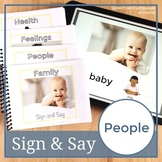 People. Sign Language Printables. Speech Therapy Books (ASL) (Flash Cards)