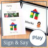 Play. Sign Language Printables. Speech Therapy Books (ASL) (Flash Cards)