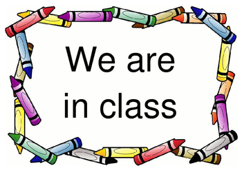 Sign for Door - Where is your class? **Editable**