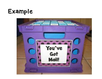 Sign for a mail station (purple)