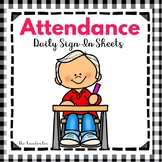 Back to School - Attendance Daily Sign-in  Sheets