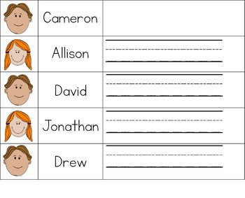 Sign in Sheets (Editable) With Pictures