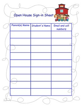 Sign in Sheets and Comment Forms