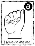 Sign language classroom signals