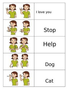Sign language parent carryover