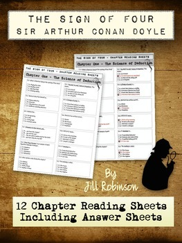 Sign of Four - Conan-Doyle - Chapter Worksheets