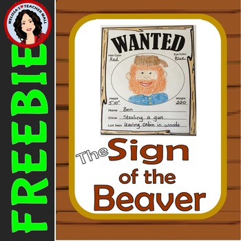 Sign of the Beaver Novel Study, Free Wanted Poster