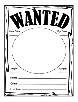Sign of the Beaver Novel Study Free Wanted Poster Activity