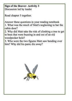 Sign of the Beaver By Elizabeth Speare Reading Group Activity Guide