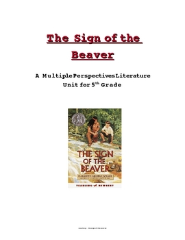 Sign of the Beaver Multiple Perspectives Unit