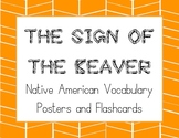 The Sign of the Beaver Native American Vocabulary Posters