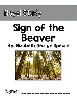 Sign of the Beaver Novel Study