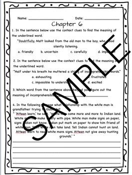 Sign of the Beaver Novel Study