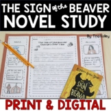 Sign of the Beaver Novel Study Bundle | Digital & Printabl