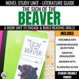 Sign of the Beaver Novel Study Unit