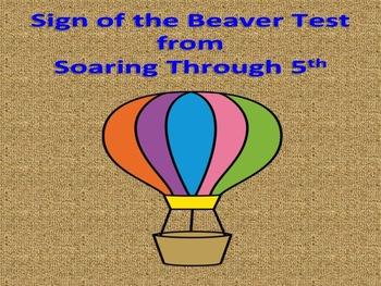 Sign of the Beaver Novel Test (Editable)