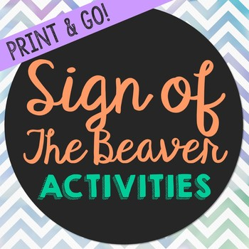 Sign of the Beaver Novel Unit Study Activities, Worksheets