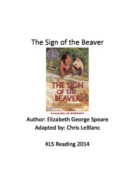 Sign of the Beaver - adapted book - summary - Great Review