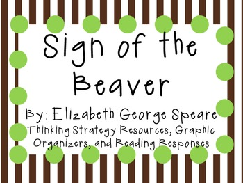 Sign of the Beaver by Elizabeth George Speare: Characters, Plot, Setting