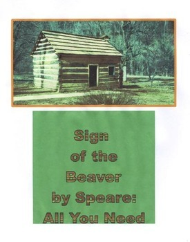 Novel Study- Sign of the Beaver: All You Need