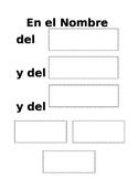 Sign of the Cross - Spanish Worksheet