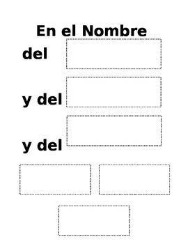 Sign of the Cross - Spanish Worksheet