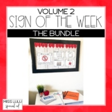 Sign of the Week Community Signs Curriculum Volume 2 Bundle