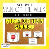 Sign of the Week Curriculum Volume 1 Bundle